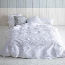 White Odette Cotton Quilt Cover Set