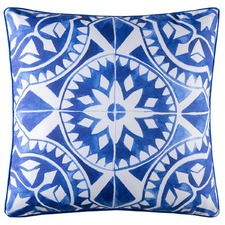 Blue Zillya Outdoor Cotton Cushion
