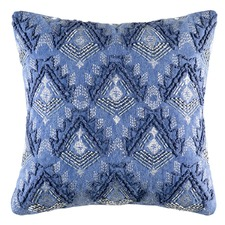 Blue Rochelle Cotton Cushion