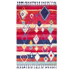 Red Alvar Cotton & Wool Rug