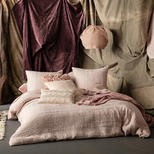 Blush Geometric Lyric Cotton Quilt Cover Set