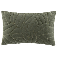 Olive Quilted Salerno Velvet Cushion