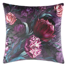 Bold Floral Velvet Cushion
