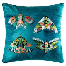 Embroidered Quatro Velvet Cushion