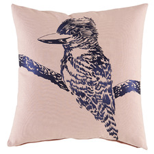 Blush Embroidered Kookaburra Cotton Cushion