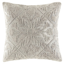 Silver Tile Pattern Margo Velvet Cushion