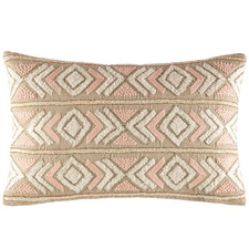 Blush Yasmin Embroidered Cushion