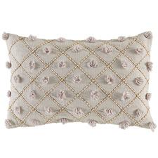 Natural Malawa Lattice Cotton Cushion