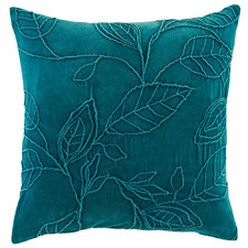 Floral Willow Velvet Cushion