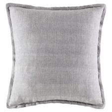 Grey Square Linen Cushion