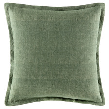 Olive Square Linen Cushion