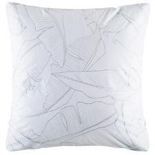 White Kensal Palm Cotton Euro Pillowcase