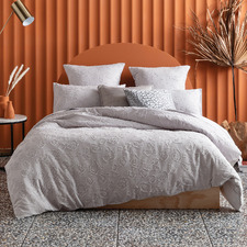 Grey Perry Cotton Jacquard Quilt Cover Set