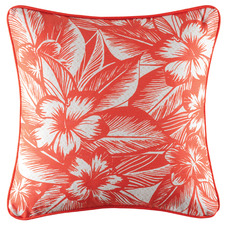 Coral Biski Cotton Outdoor Cushion
