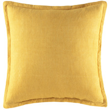 Yellow Tailored Linen Cushion