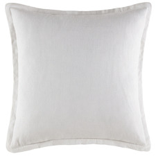 White Tailored Linen Cushion
