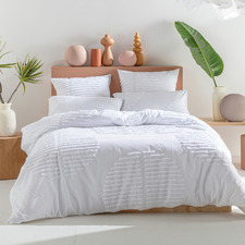 White Barlow Cotton Quilt Cover Set