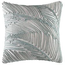 Sage String Palm Linen-Blend Cushion