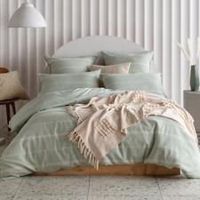 Sage Balmoral Linen Blend Quilt Cover Set