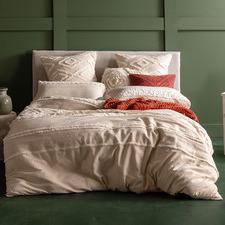 Beige Korri Cotton Quilt Cover Set