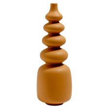 Ochre Pisa Ceramic Vase