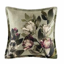Sage Ana Linen-Blend Cushion