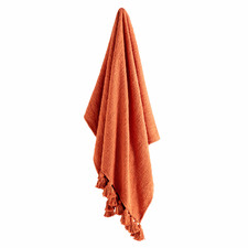 Rust Zina Cotton Throw