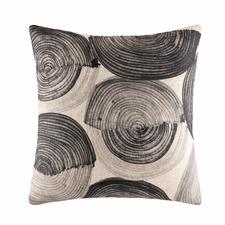 Black Nevada Linen-Blend Cushion