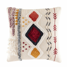 Multi-Coloured Raffie Cotton Cushion