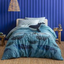 Kas Kids Whale Cotton Quilt Cover Set