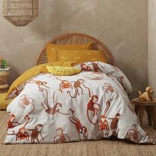 Kas Kids Monkey Cotton Quilt Cover Set