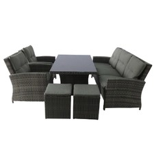 Springfield 6 Piece Outdoor Wicker Sofa Dining Set