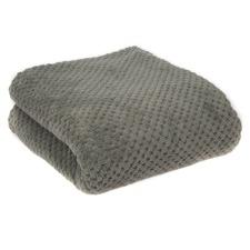 Diamond Grey Fleece Blanket