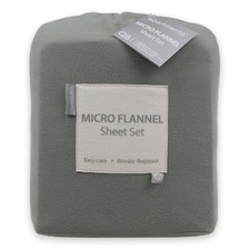 Microflannel Grey Sheet Set