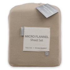 Microflannel Taupe Sheet Set