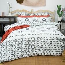 Black & White Imala Patterned Quilt Cover Set