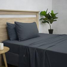 Navy Apartmento Flannelette Sheet Set