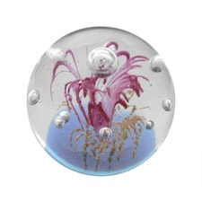 Lilac Mini Ball Paperweight in Pink