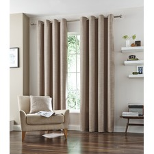 Natural Vermont Eyelet Curtain Set