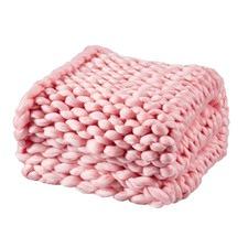 Blush Chunky Knit Throw