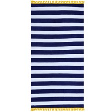 Navy Stripe Cotton Beach Towel