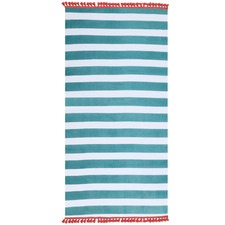 Duckegg Blue Stripe Cotton Beach Towel