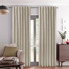 Cream Gala Concealed Tab Top Curtains (Set of 2)