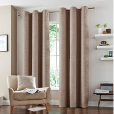 Natural  Vermont Eyelet Curtains
