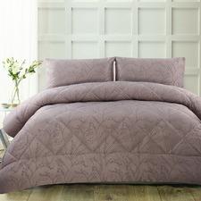 Mauve Pippa Jacquard Comforter Set