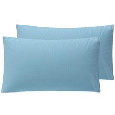 Solid Cotton Flannelette Standard Pillowcases (Set of 2)