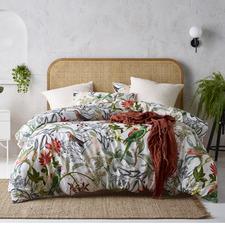 Printed Currumbin Linen-Blend Quilt Cover Set