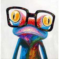 Smart Frog Art Print