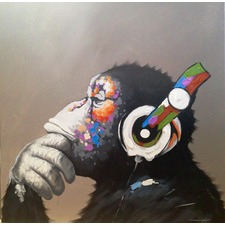 Radio Chimp Art Print