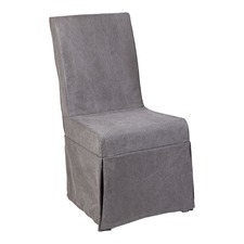 Grey Brighton Long Skirt Dining Chair